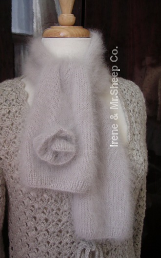 Nature Angora Scarf, Irene & Mr.Sheep Co.