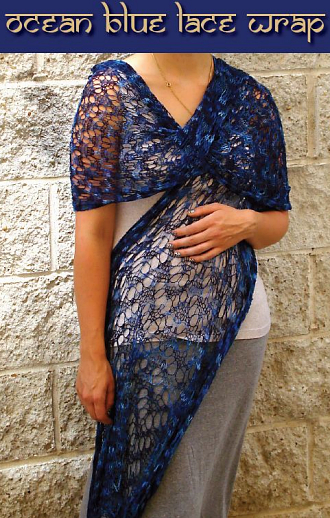 Ocean Blue Lace Wrap