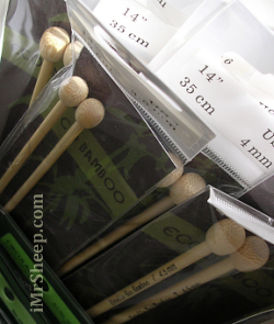 Ecological Bamboo Straight Knitting Needles