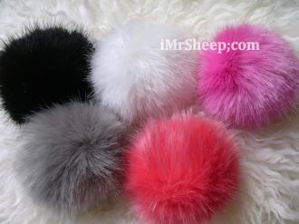Faux Fox Fur pompoms