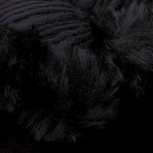 KATIA EVITA MERINO [70% Virgin Merino Wool, 30% Synthetic Fur], Wool-Faux Fur Mix, col 43 Black with Black Fur