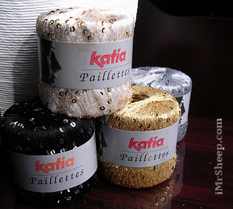 KATIA PAILLETTES [100% Polyester], Sequined