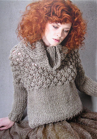 BIG WOOL PULLOVER, LANA GROSSA