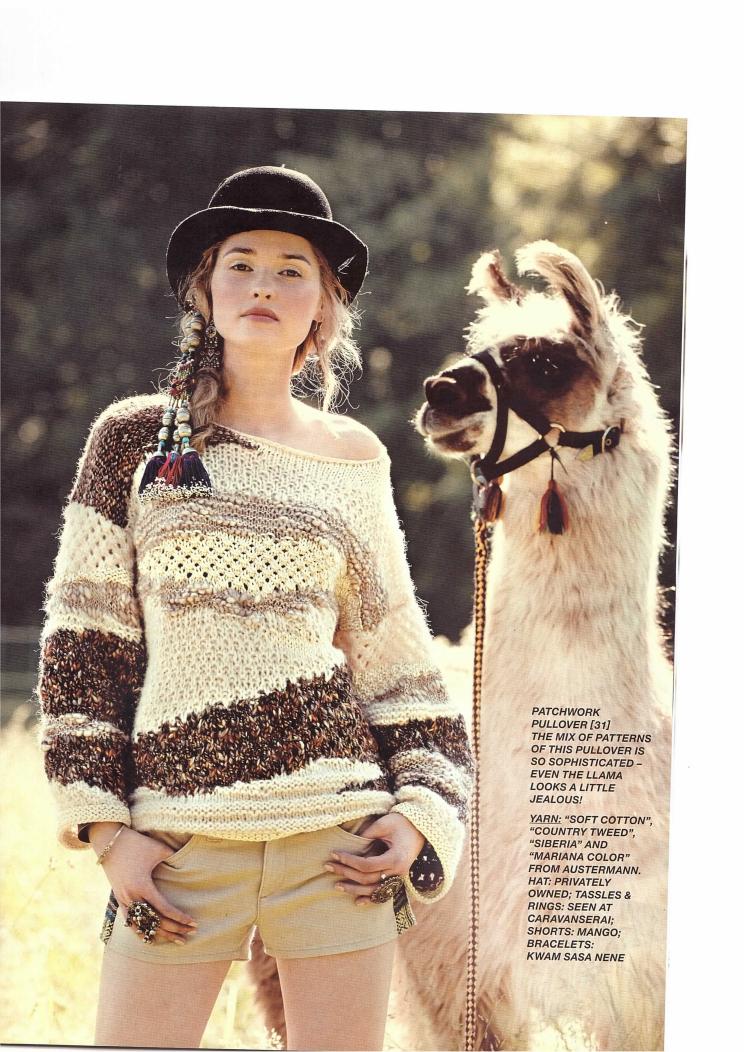 sandra knitting magazine  knit trends  burda knitting