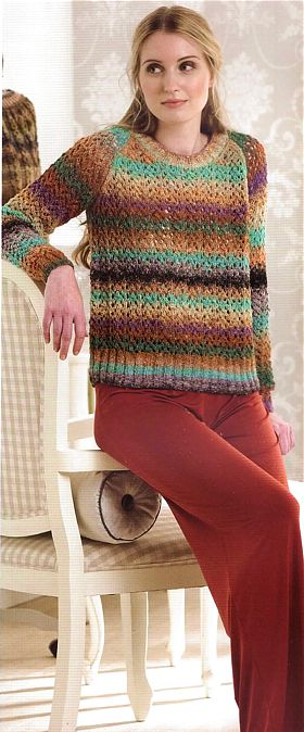 Lace Raglan Sweater, NORO