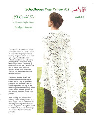 If I Could Fly - A Faroese-Style Shawl, Schoolehouse Press Patterns